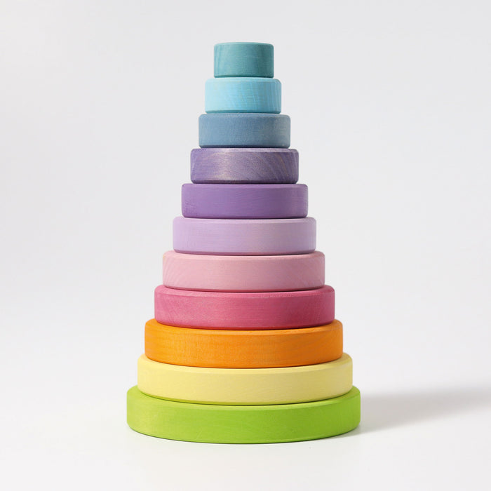 11001 Grimms Large Pastel Conical Stacking Tower