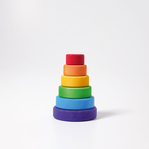 11010 Grimms Small Rainbow Conical Stacking Tower