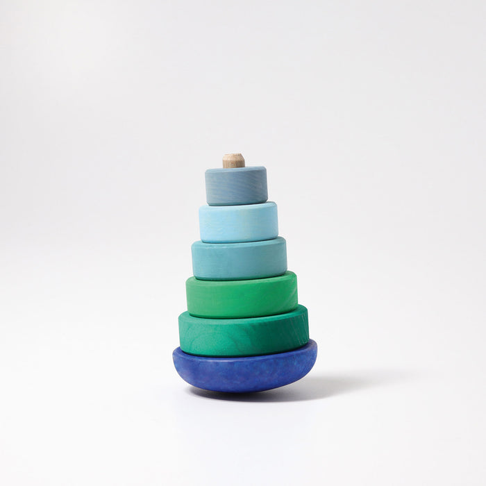 11012 Grimms Wobbly Blue Conical Stacking Tower