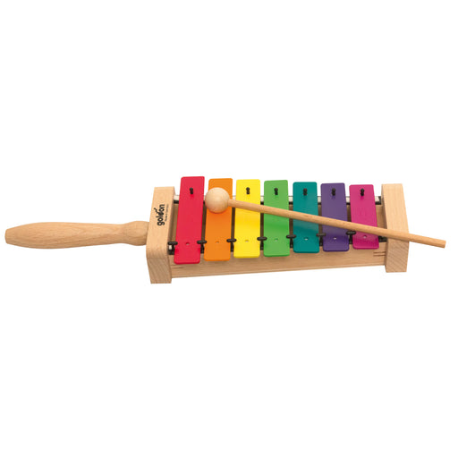11026 Goldon Metallophone 7 coloured notes with Boomwhackers colours