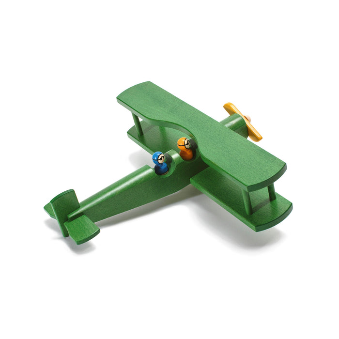 11030.2 Weizenkorn Wooden Biplane with 2 Passengers- Green