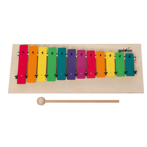 11032 Goldon Metallophone 12 Coloured Sound Plates in Boomwhackers Colours