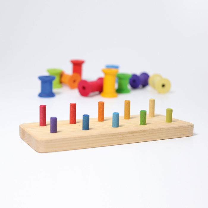 11055 Grimms Stacking Bobbins Large 11 pieces