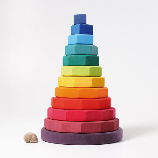 11090 Grimms Large Rainbow Geometrical Stacking Tower