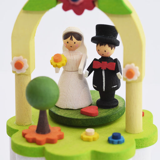 14700 Graupner Music Box with Crank Bridal Couple 03