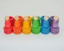 15-102 Grapat Nins Rings & Coins Rainbow Colours Australia