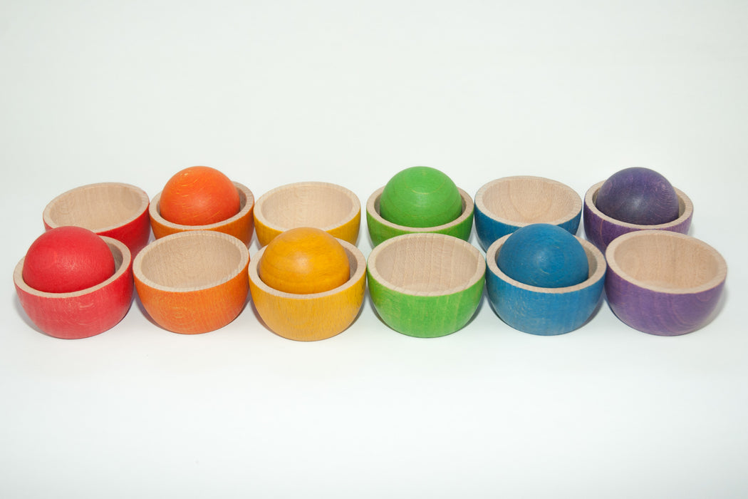 15-105 Grapat Rainbow Coloured Bowls and Balls Australia