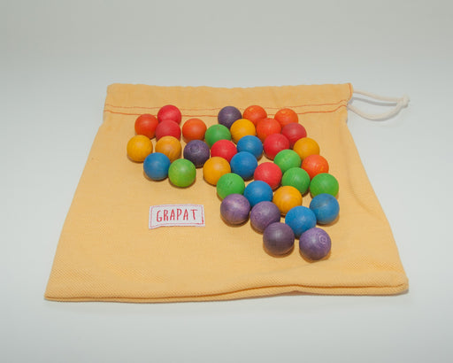 15-108 Grapat Coloured Wooden Marbles Australia