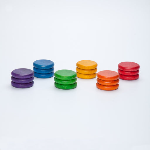 Grapat Coloured Rainbow Coins 18 Pieces