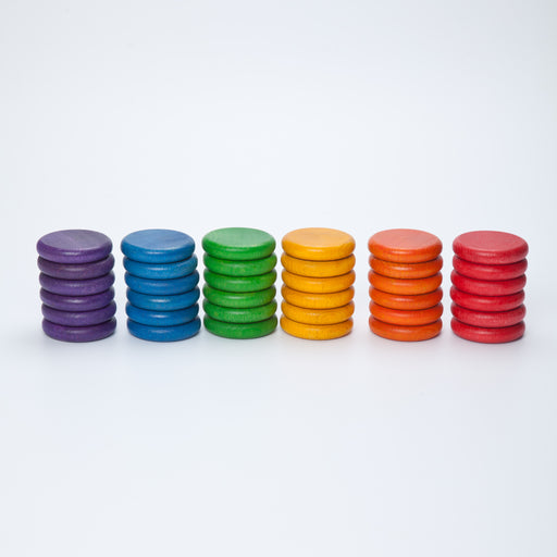 Grapat Coloured Rainbow Coins 36 Pieces