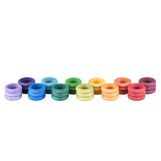 Grapat Coloured Rainbow Rings 36 Pieces
