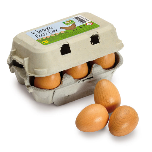17011 Erzi Eggs Brown Sixpack