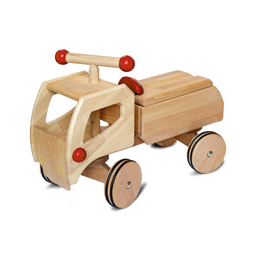 180022 Dynamiko Wooden Ride On Toy Car Transporter Fred Red