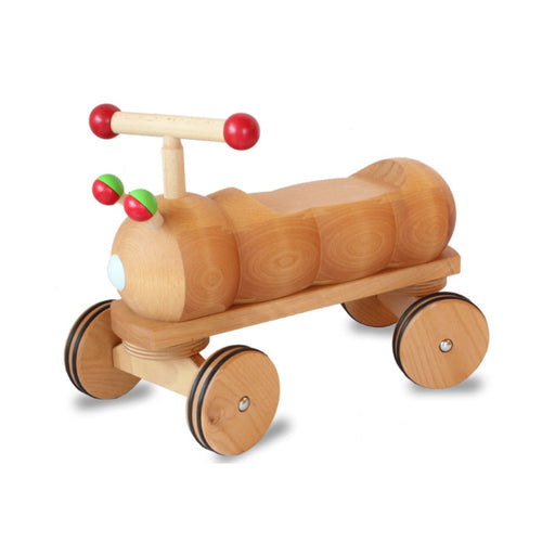 180220 Dynamiko Wooden Ride on Toy Caterpillar Red