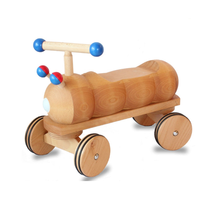 180237 Dynamiko Wooden Ride on Toy Caterpillar Blue