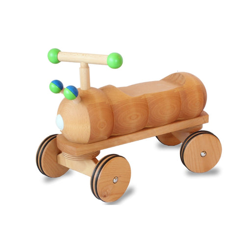 180244 Dynamiko Wooden Ride on Toy Caterpillar Green