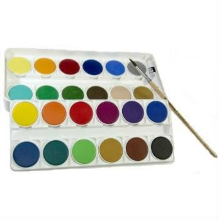 Lukas Opaque Watercolours Paint Set 24 colours