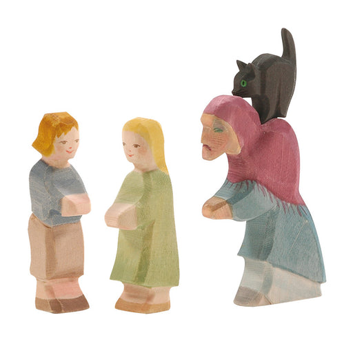 Ostheimer Hansel Gretel & Witch with Cat Set 4 Pieces