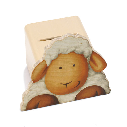 25021 Weizenkorn Wooden Money Box Sheep Printed