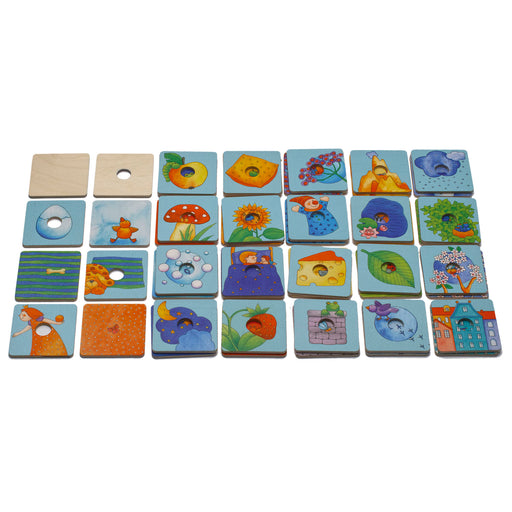 25072 Weizenkorn Wooden Matching Game Assorted Characters