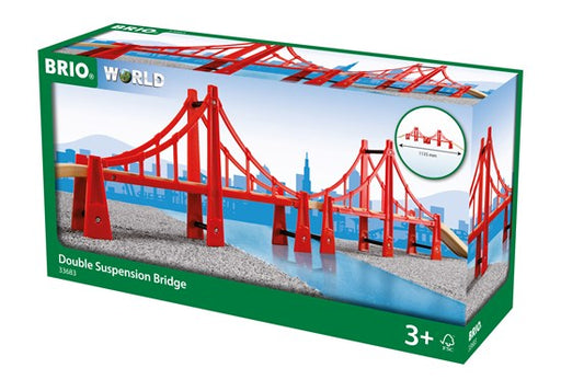 BRI33683 BRIO Double Suspension Bridge 5 pieces