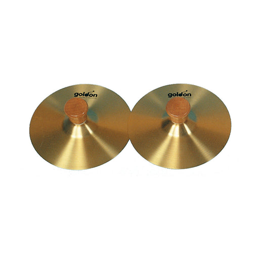 34110 Goldon Cymbals Brass with Wooden Handle 15 cm