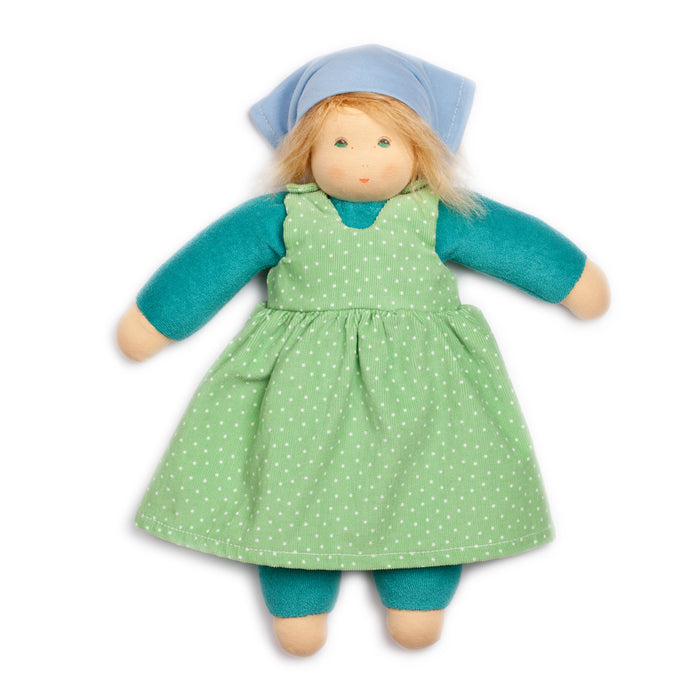 368407 Nanchen Natur Lotti Doll Green Turquoise