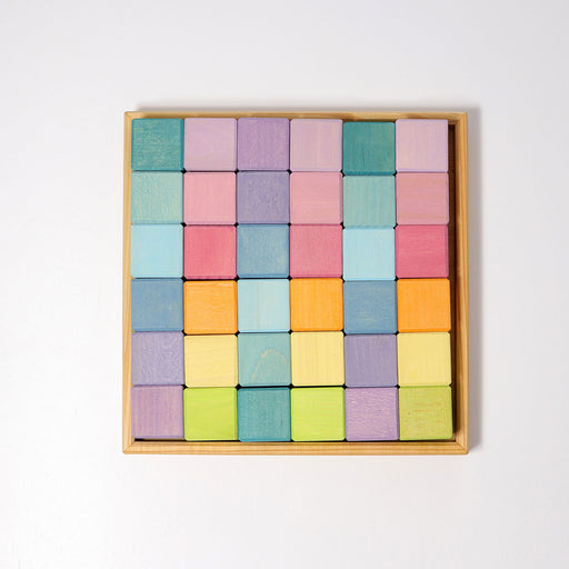 43111 Grimms Pastel Square Mosaic 36 pieces