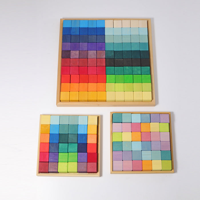 43110 Grimms Rainbow Square Mosaic 36 pieces
