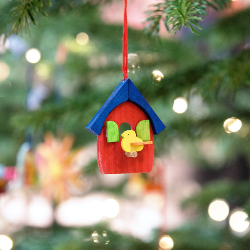 43340 Graupner Tree Ornament Bird House Set of 6 02