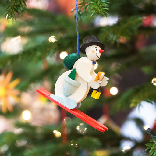 45821 Graupner Tree Ornament Skiing Snowman 02
