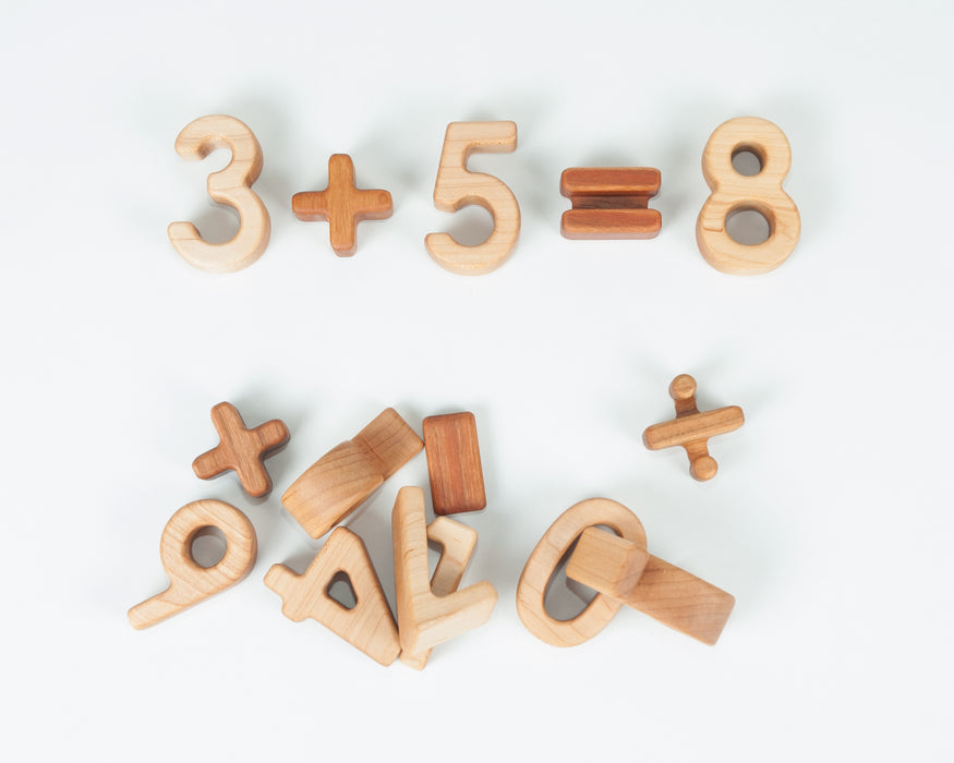 5 Cherry Math Symbol Blocks Treasures From Jennifer