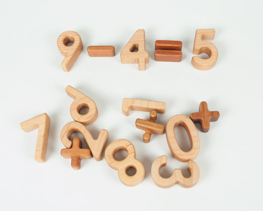 0-9 Maple Number Blocks Treasures From Jennifer