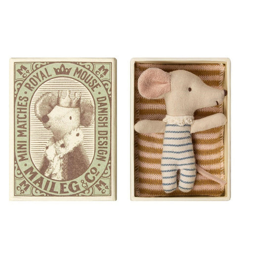 Maileg mouse baby sleepy-wakey boy 01