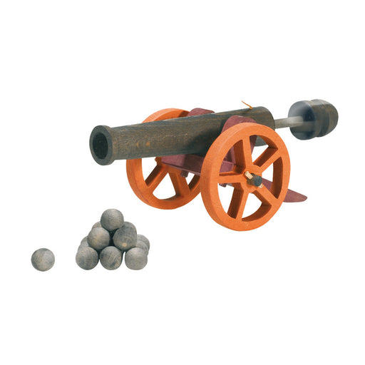5540516 Ostheimer Kinderkram Cannon Large with 10 Cannonballs