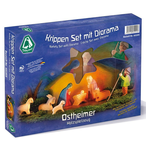 60205 Ostheimer Nativity Set with Diorama