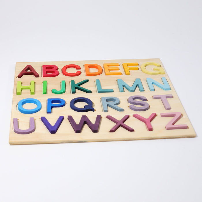 60360 Grimm's Wooden ABC Game in frame