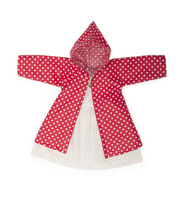 612402 Nanchen Natur Polka Dot Cloak and Dress Doll Clothing Set