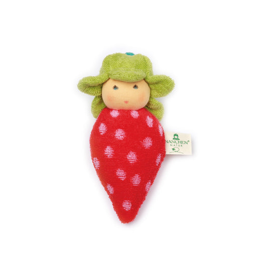901043 Nanchen Natur Plush Baby Rattle Strawberry