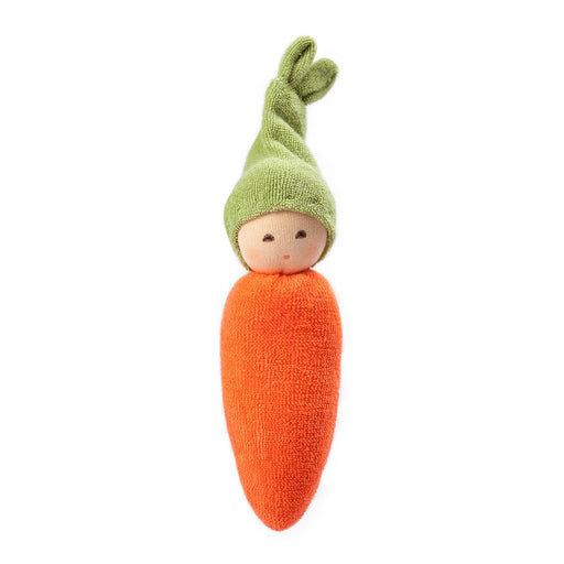 Nanchen Plush Natur Baby Rattle Carrot