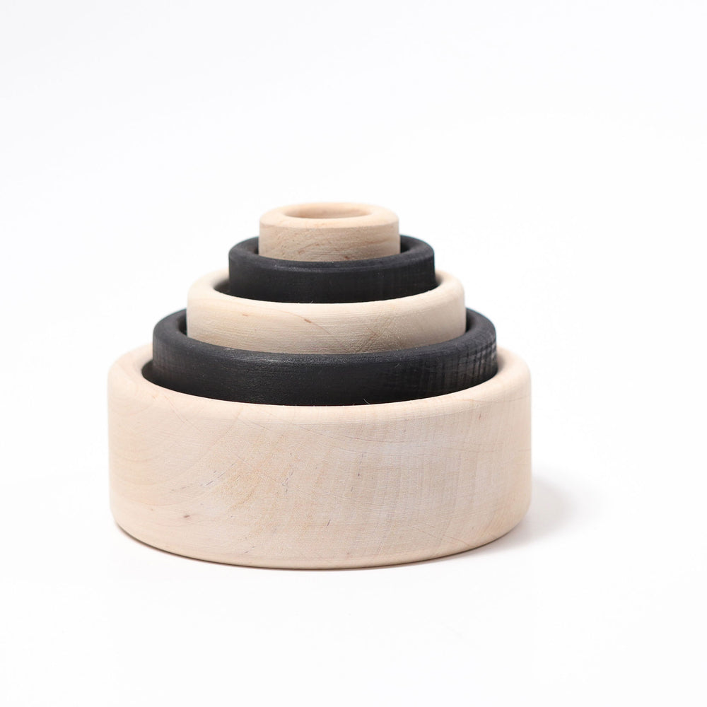 93030 Grimms Monochrome Stacking Bowls