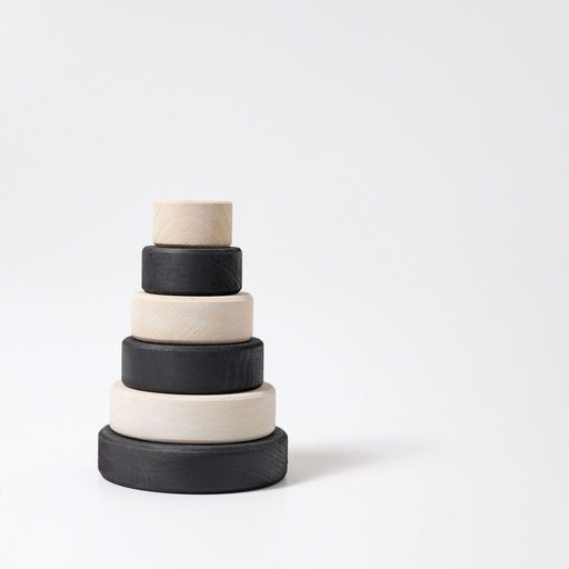 93080 Grimm's Small Monochrome Conical Stacking Tower