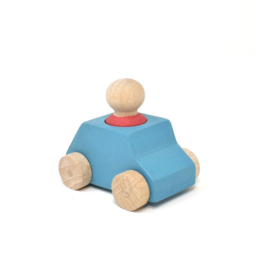 Lubulona Turquoise car with red figure