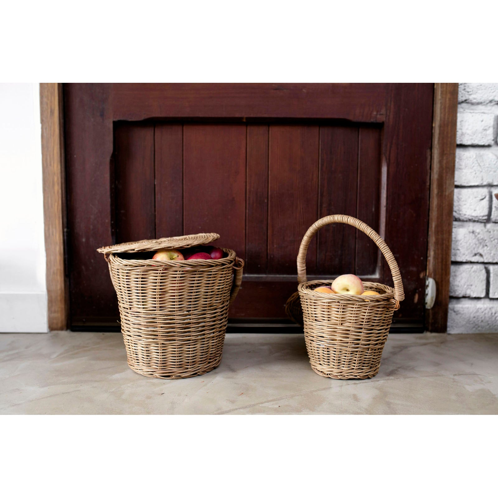 Ollie Ella Apple Basket Large 02