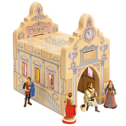 RBL-216 Regenbogenland Wooden block set Royal palace 01