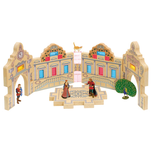 RBL-216 Regenbogenland Wooden block set Royal palace 02