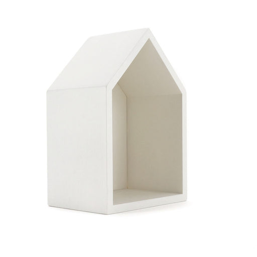 CLiCQUES Wooden House - White