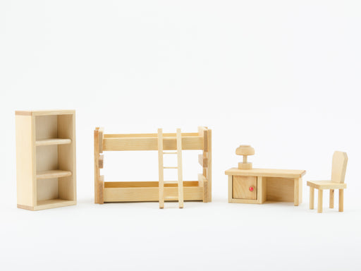 Drei Blaetter Wooden Children's Bedroom Furniture Dollhouse