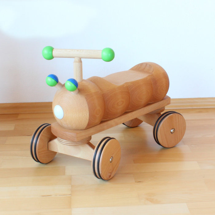 Dynamiko Wooden Ride on Toy Caterpillar Blue