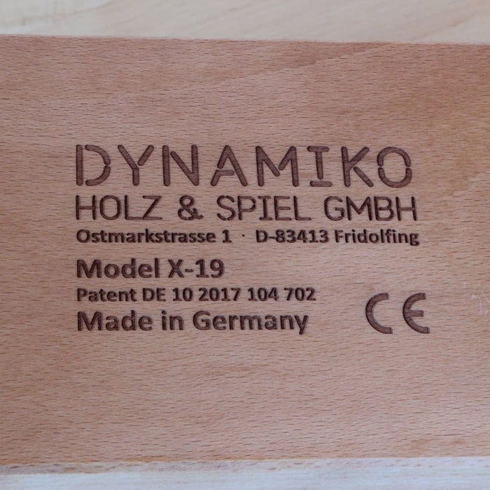 Dynamiko Wooden Ride on Toy Caterpillar Red
